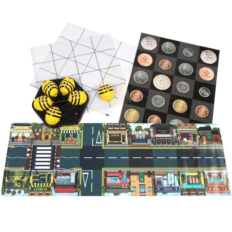 """Robots """"Bee bot"""" komplekts ar paklājiem"""