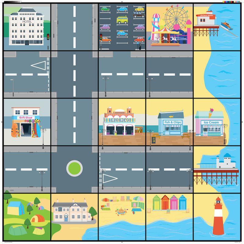 Ostas pilsētas paklājs (Pielāgots robotiem)