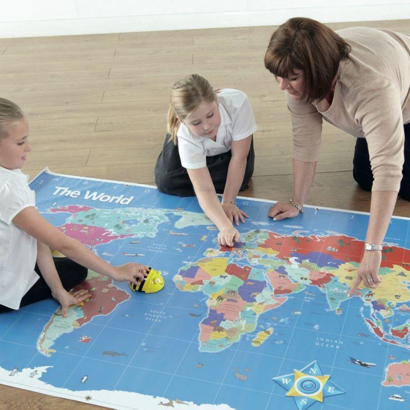 Pasaules kartes paklājs